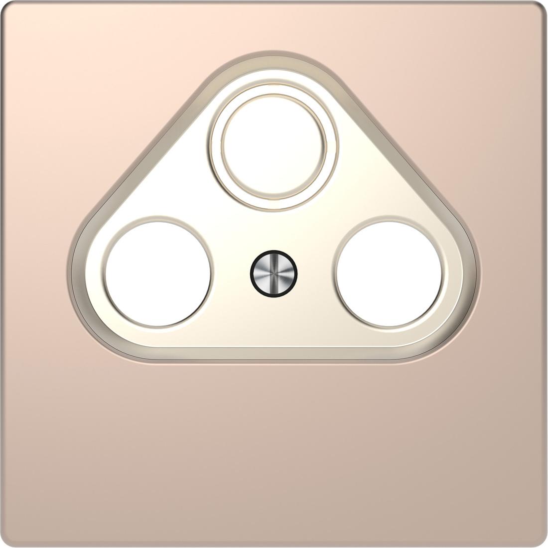 Schneider-Merten D Life centraalplaat voor CAI & schotel - champagne metallic (MTN4123-6051)