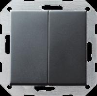 Gira tastschakelaar met 2-voudig wip - systeem 55 antraciet (12528)