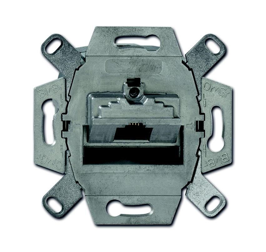 ABB Busch-Jaeger datacontactdoos inbouw 1xRJ45 CAT6a - All-weather 44 (0218-11-101)