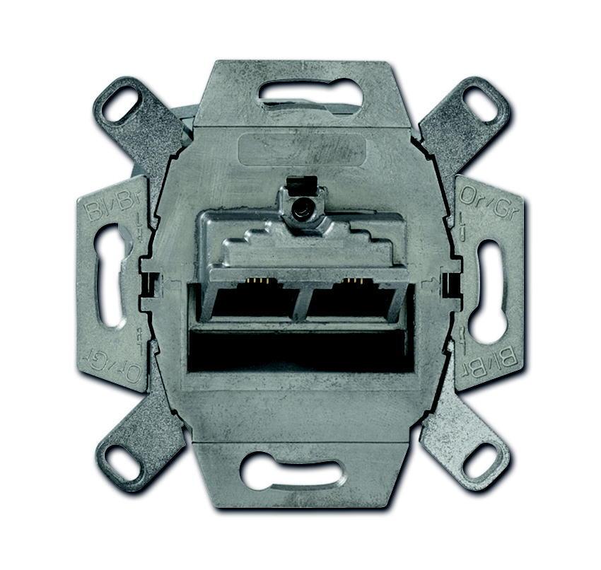 ABB Busch-Jaeger datacontactdoos inbouw 2xRJ45 CAT6a - All-weather 44 (0218-12-101)