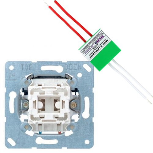 JUNG set impulsdrukker + shuttle dimmer LED/halogeen 125W (2700317240-125W)