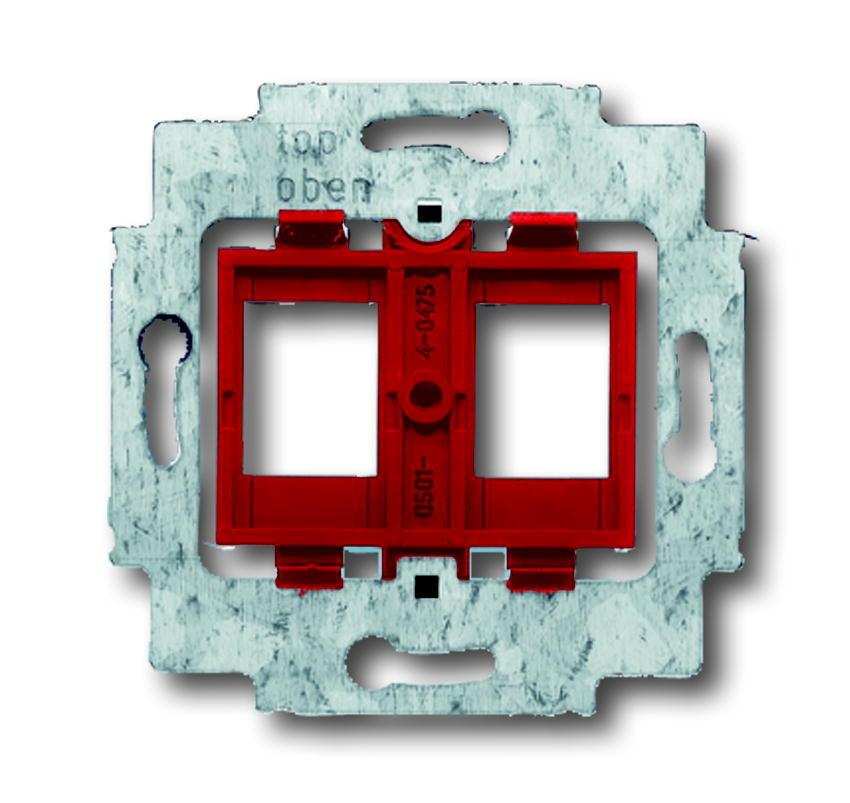 ABB Busch-Jaeger draagring 2-voudig - rood