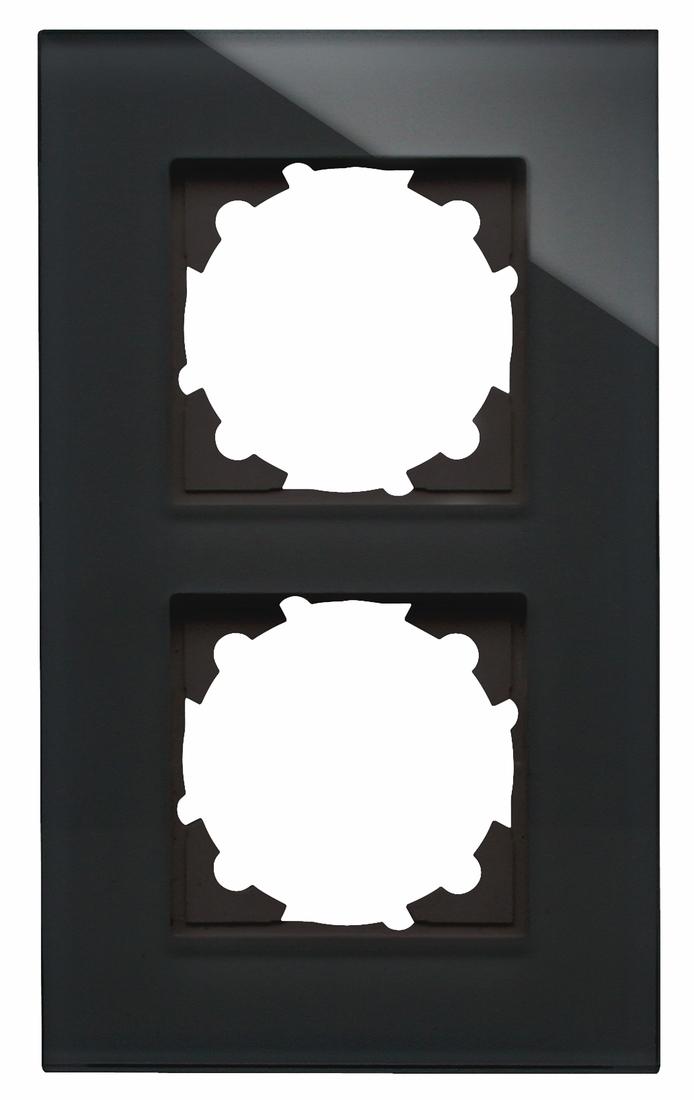 Kopp HK07 afdekraam glas 2-voudig zwart