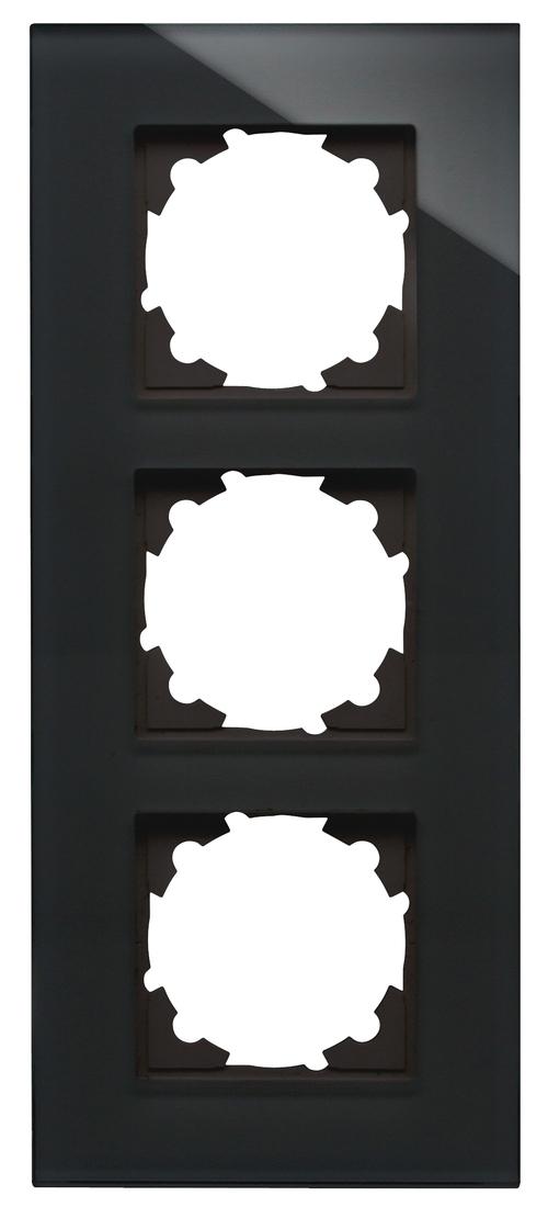 Kopp HK07 afdekraam glas 3-voudig zwart