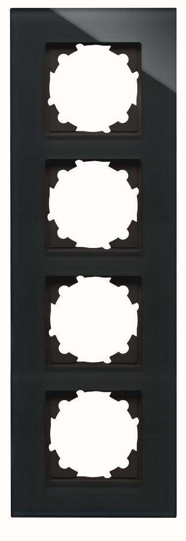 Kopp HK07 afdekraam glas 4-voudig zwart