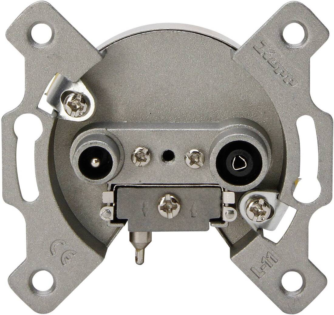 Kopp tv en radio stopcontact inbouw (doorgangsdoos en/of einddoos)