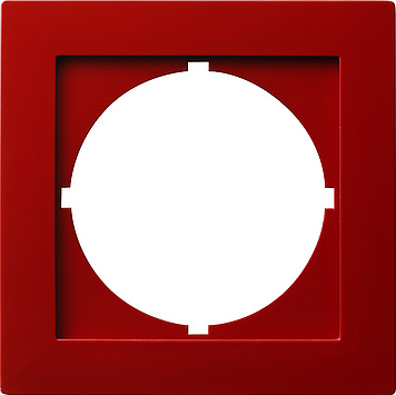 Gira S-color adapterraam rond 50x50mm rood