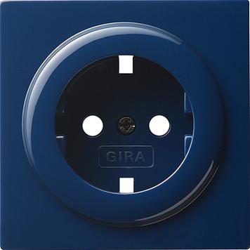 Gira S-color afdekking voor wandcontactdoos met randaarde blauw