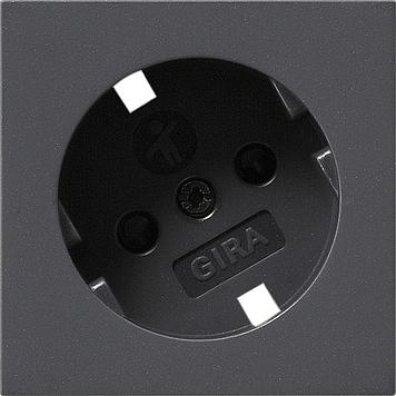 Gira afdekking stopcontact 30° gedraaid - systeem 55 antraciet (092628)