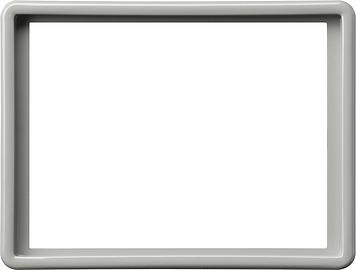 Gira S-color afdekraam voor 2-voudige wandcontactdoos grijs