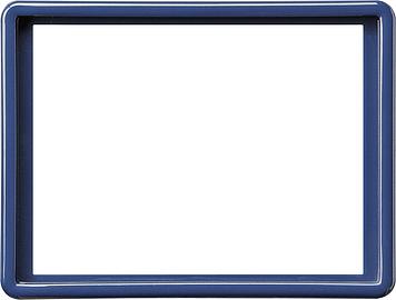 Gira S-color afdekraam voor 2-voudige wandcontactdoos blauw