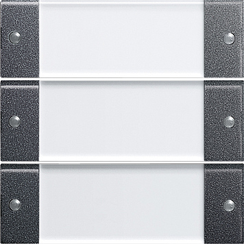 Gira Wippenset 3-voudig met tekstkader - systeem 55 clear/antraciet (213328)