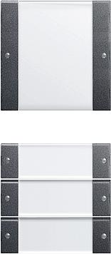 Gira Wippenset 4-v (1+3) met tekstkader - systeem 55 clear/antraciet (213428)