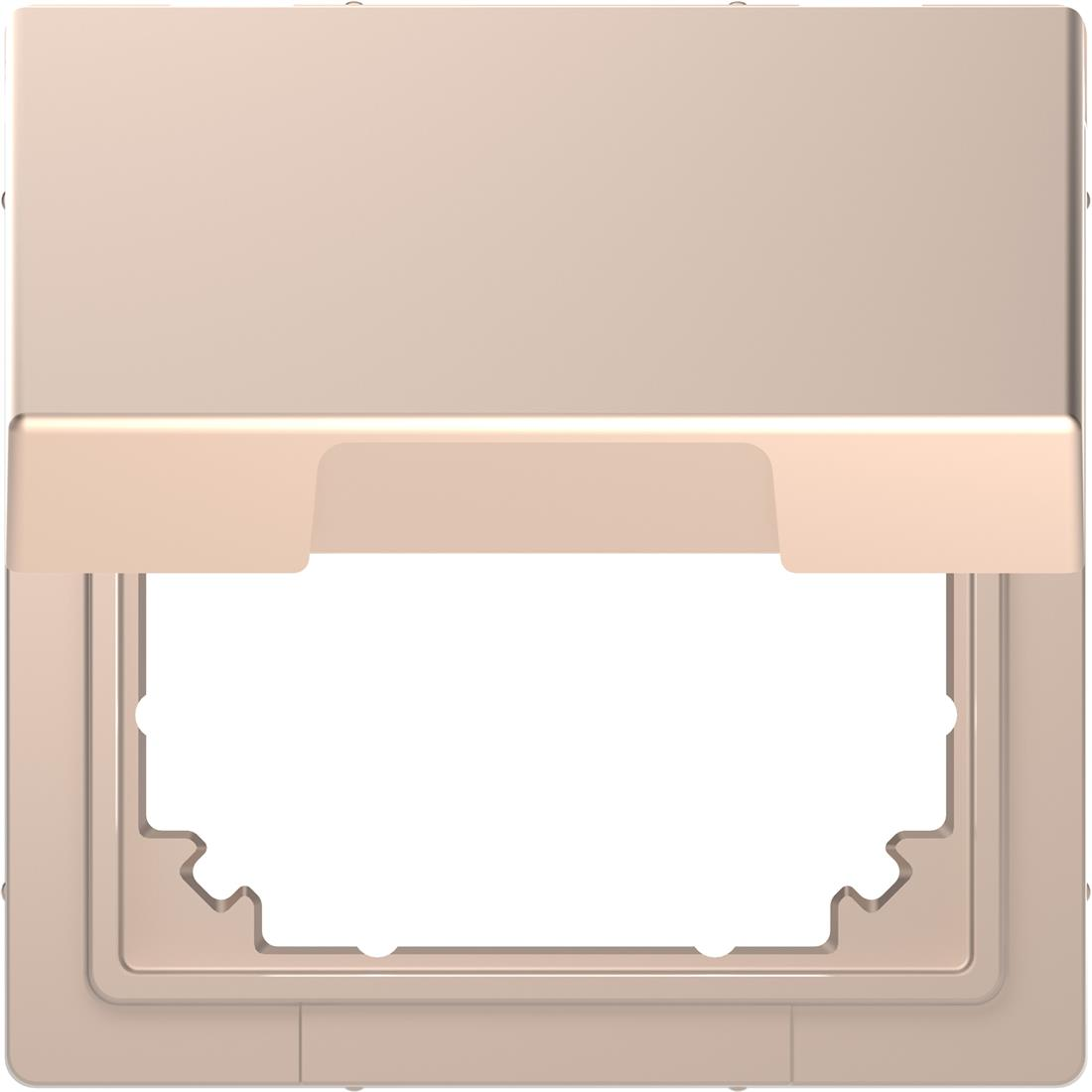 Schneider-Merten D Life adapter voor systeem M met klapdeksel - champagne metallic (MTN4081-6051)