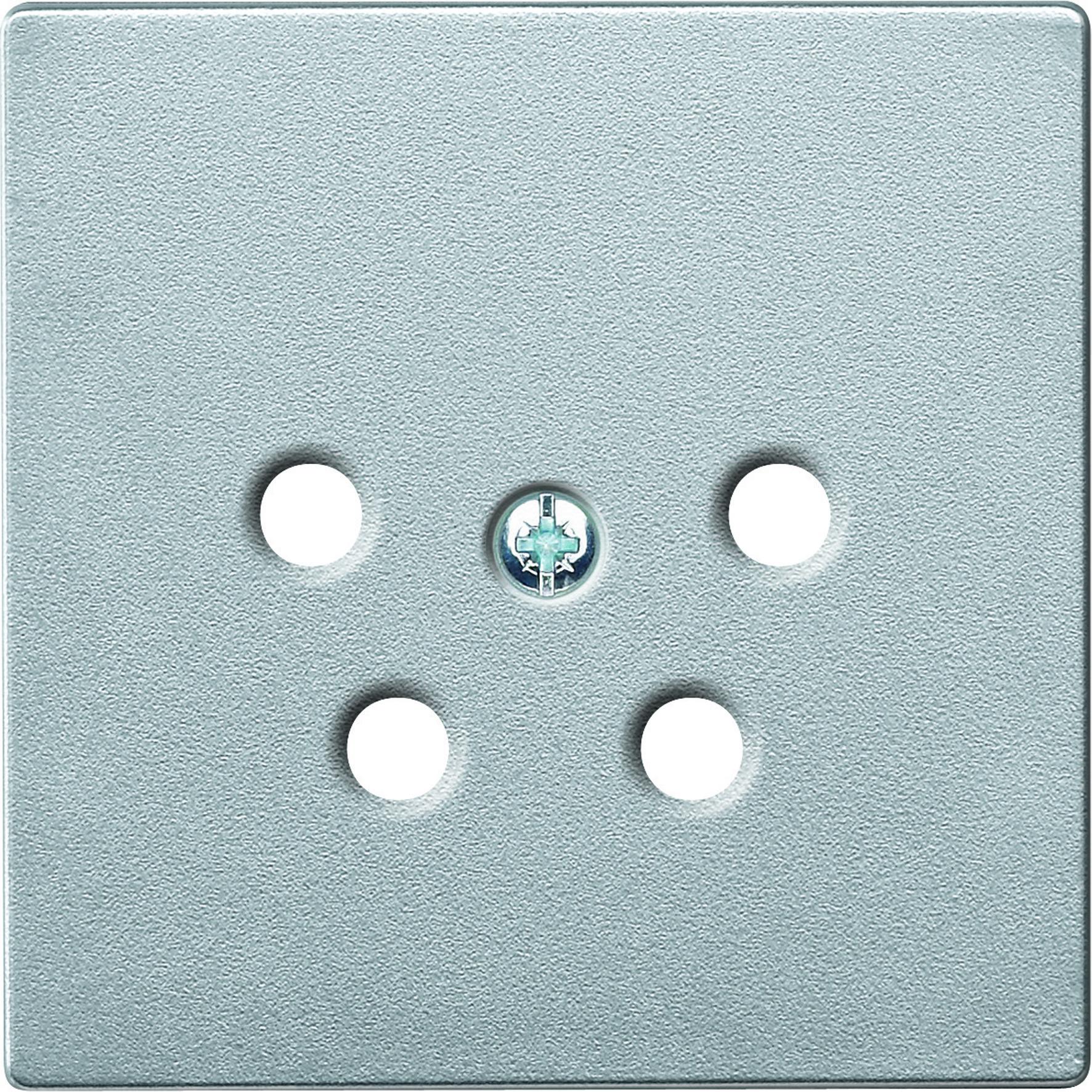 Schneider-Merten systeem M centraalplaat voor PTT aansluitdozen - aluminium (MTN4220-0460)