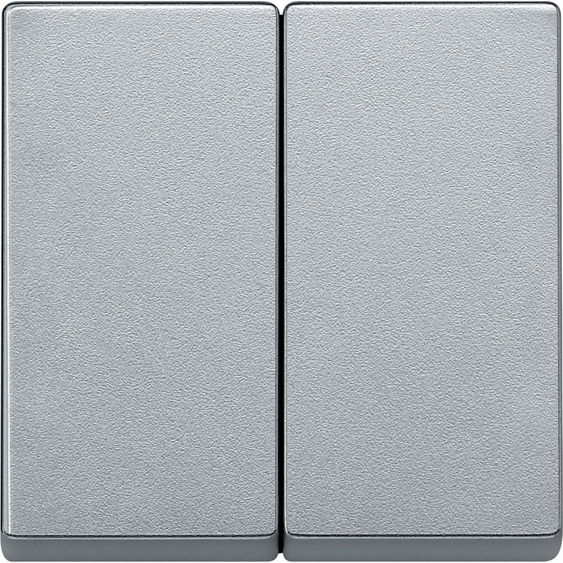 Schneider-Merten systeem M wip voor serieschakelaar - aluminium (MTN433560)