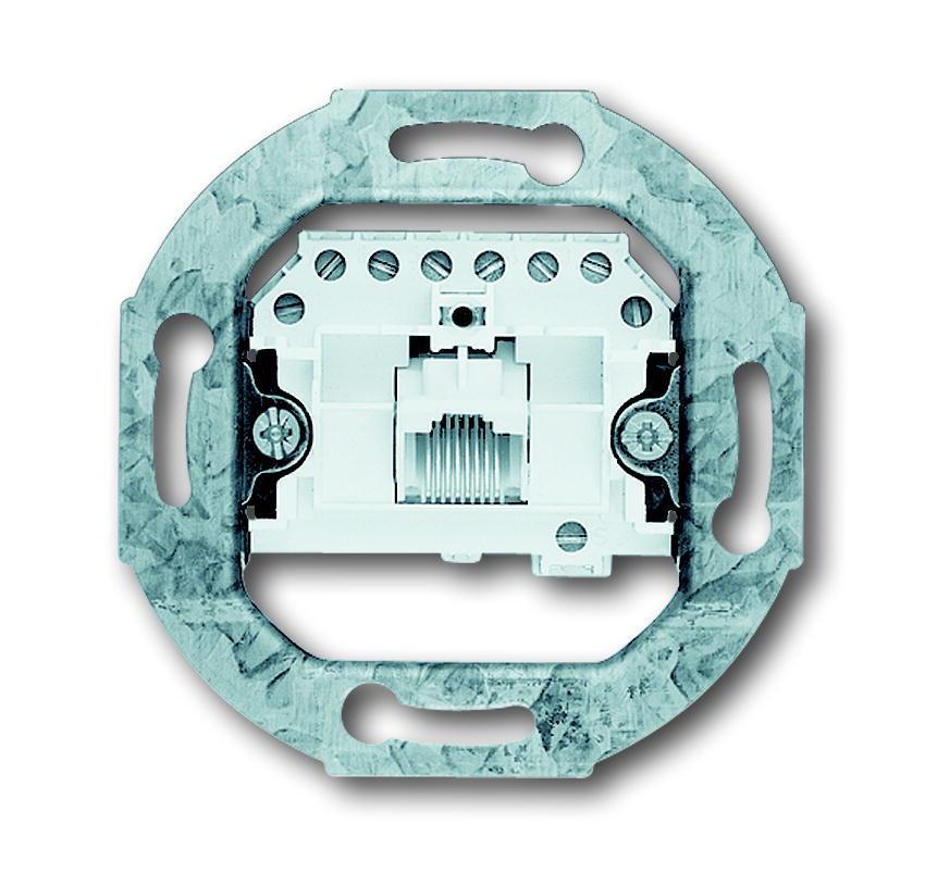 ABB Busch-Jaeger datacontactdoos inbouw 1xRJ45 CAT3 - All-weather 44 (0213)
