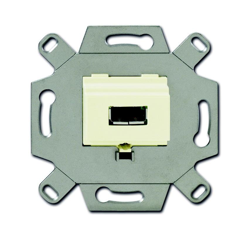 ABB Busch-Jaeger aansluitdoos USB inbouw - crème (0261/11)