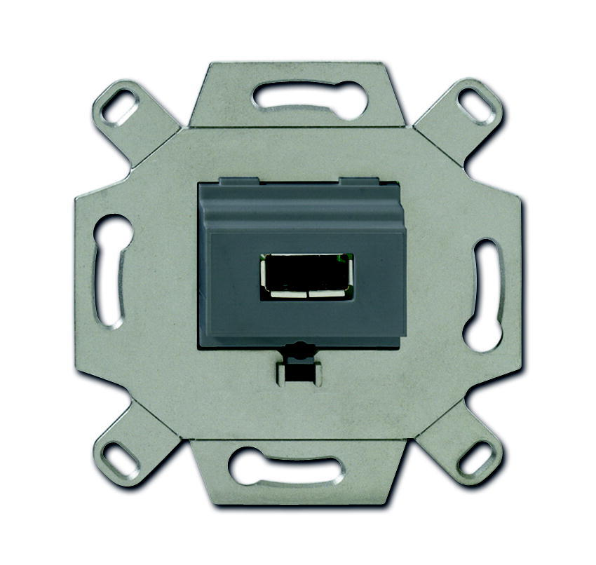 ABB Busch-Jaeger aansluitdoos USB inbouw - grijs (0261/13)