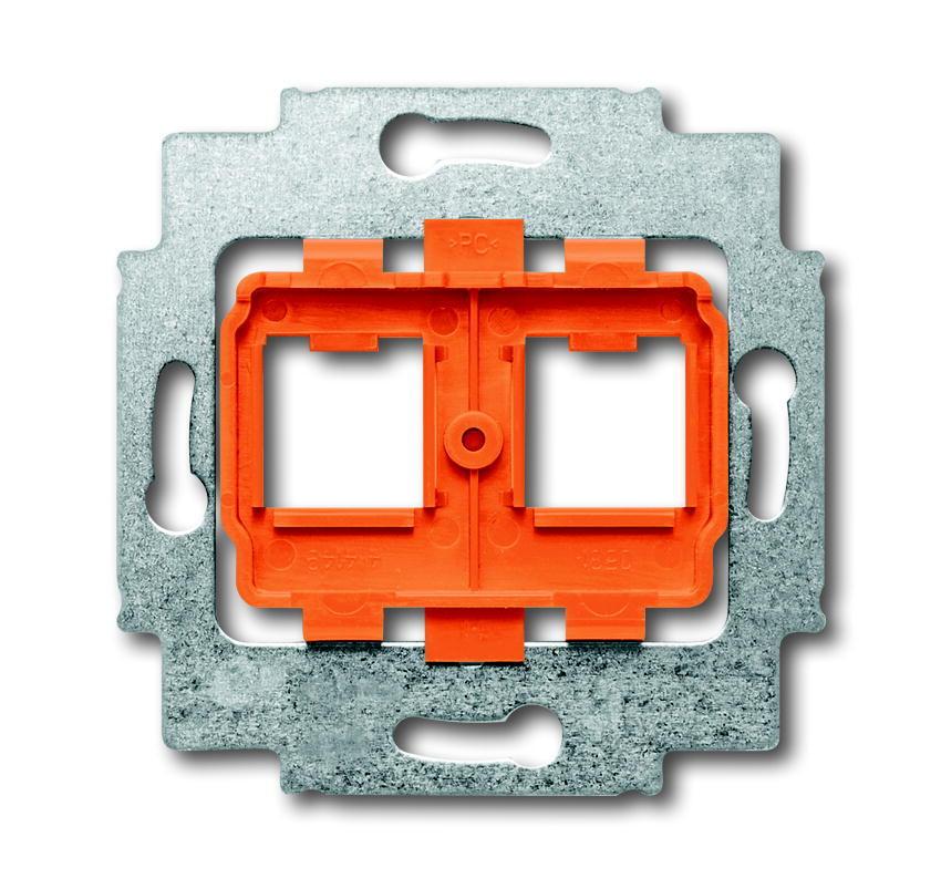 ABB Busch-Jaeger draagring 2x met oranje inzet voor Modular Jack connectors - axcent (1816)