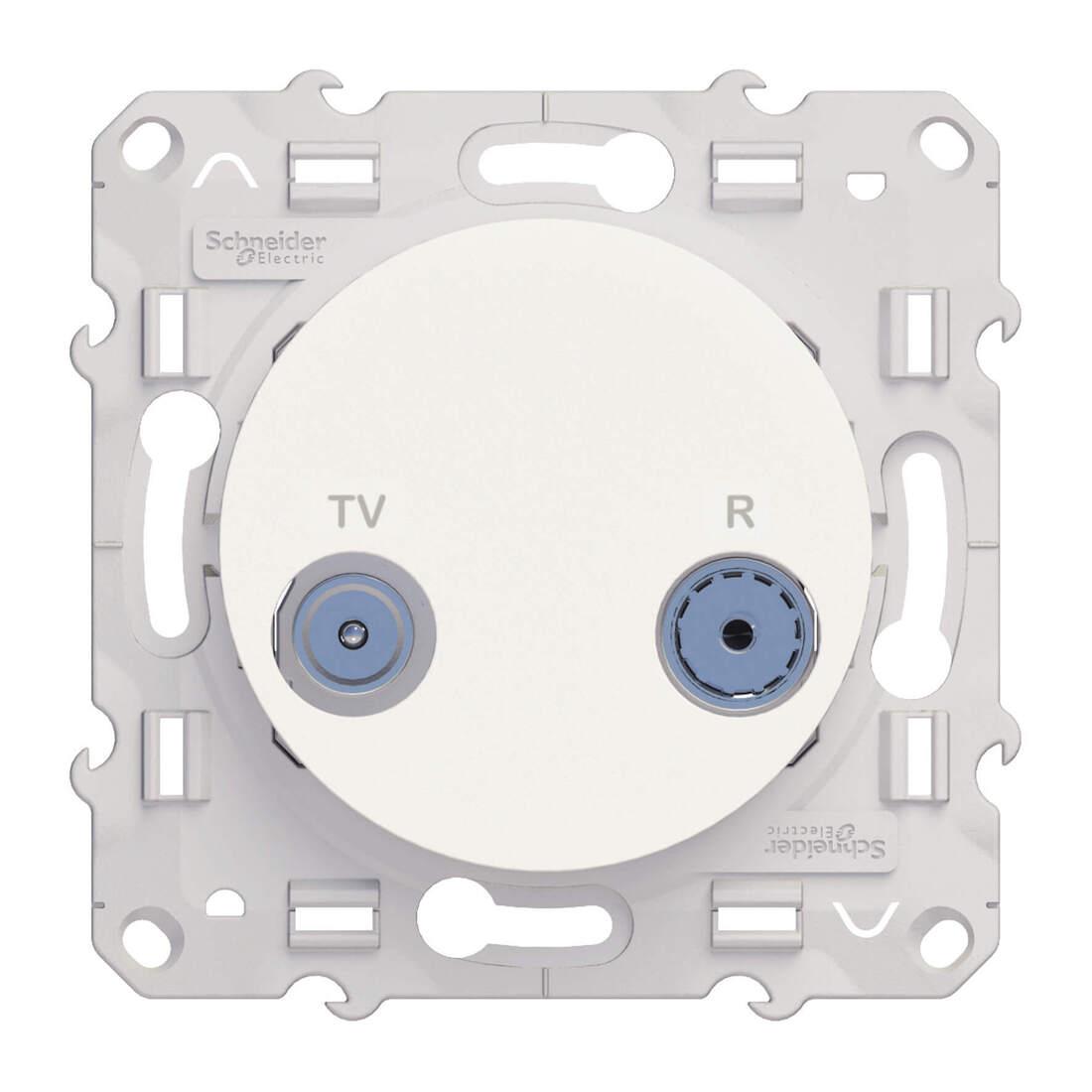 Schneider Electric Odace TV / rijgdoos - wit (S520453)