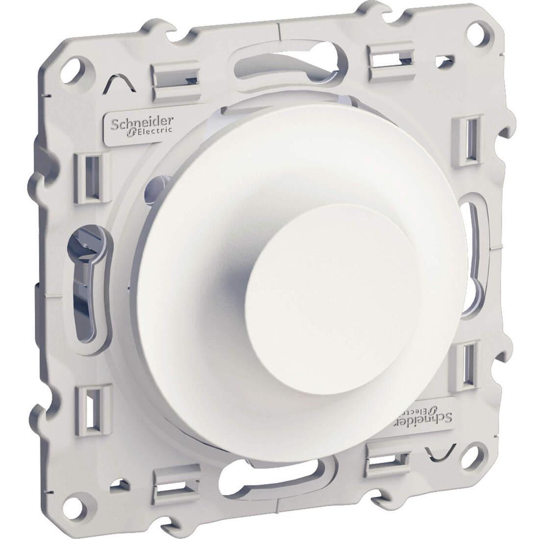 Schneider Electric Odace universele LED draaidimmer 4-200VA - wit (S520512)