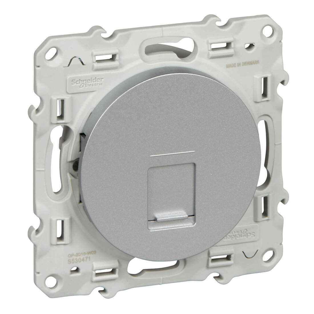 Schneider-Merten Odace contactdoos rj45 Cat5e aluminium (S530471)