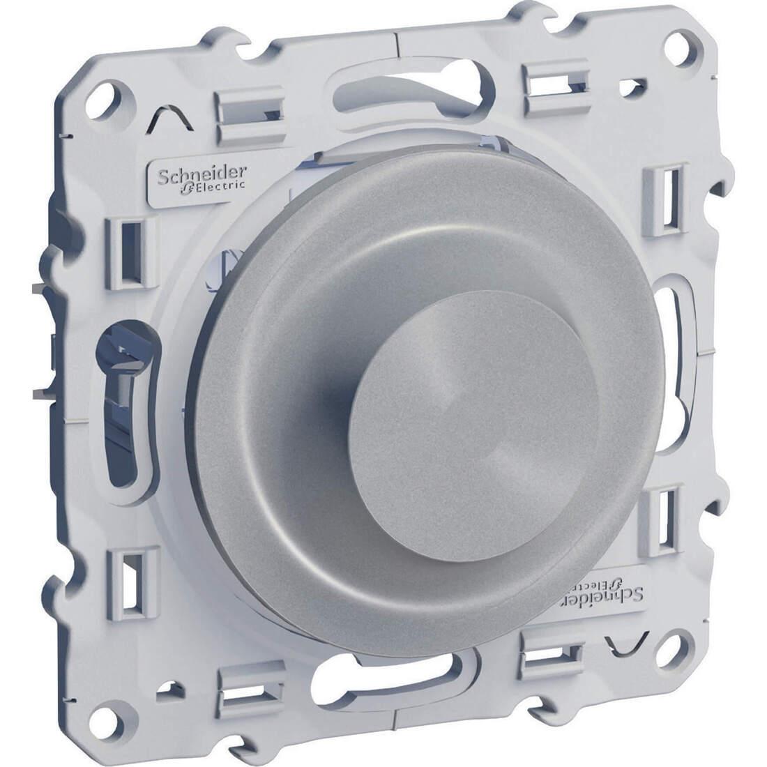 Schneider-Merten Odace draaidimmer voor speciale lampen 9-100W aluminium (S530518)
