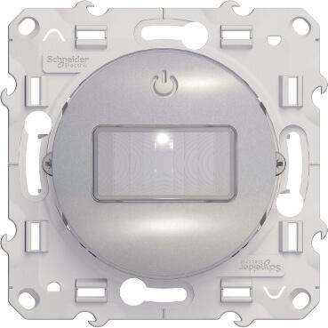 Schneider-Merten Odace bewegingmelder 3-draads 10A aluminium (S530525)